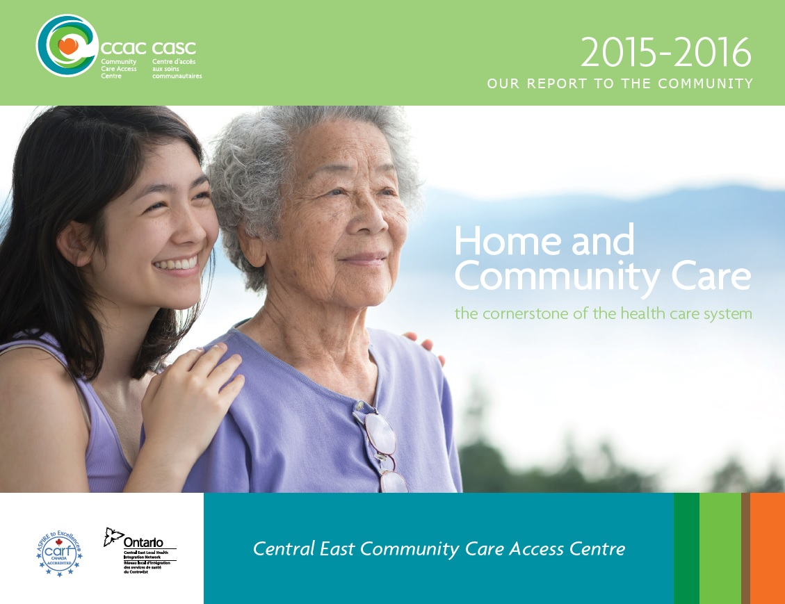 Picture of our 2015-2016 Annual Report to the Community