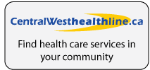 Central West Healthline button with logo