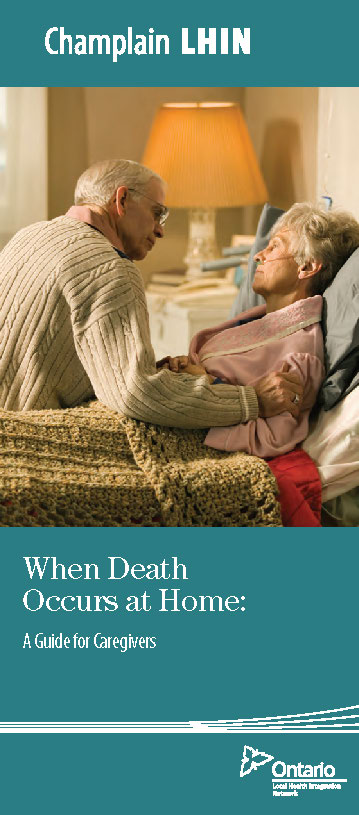 Cover of When Death Occurs at Home brochure