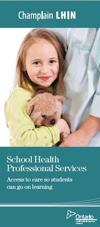 Cover of School Health Support Services brochure