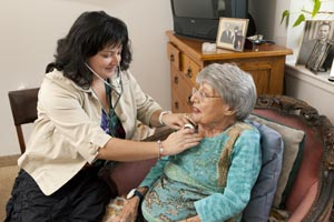 Palliative Care Nurse with patient