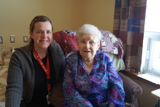 Service Provider with a patient in a long-term care home