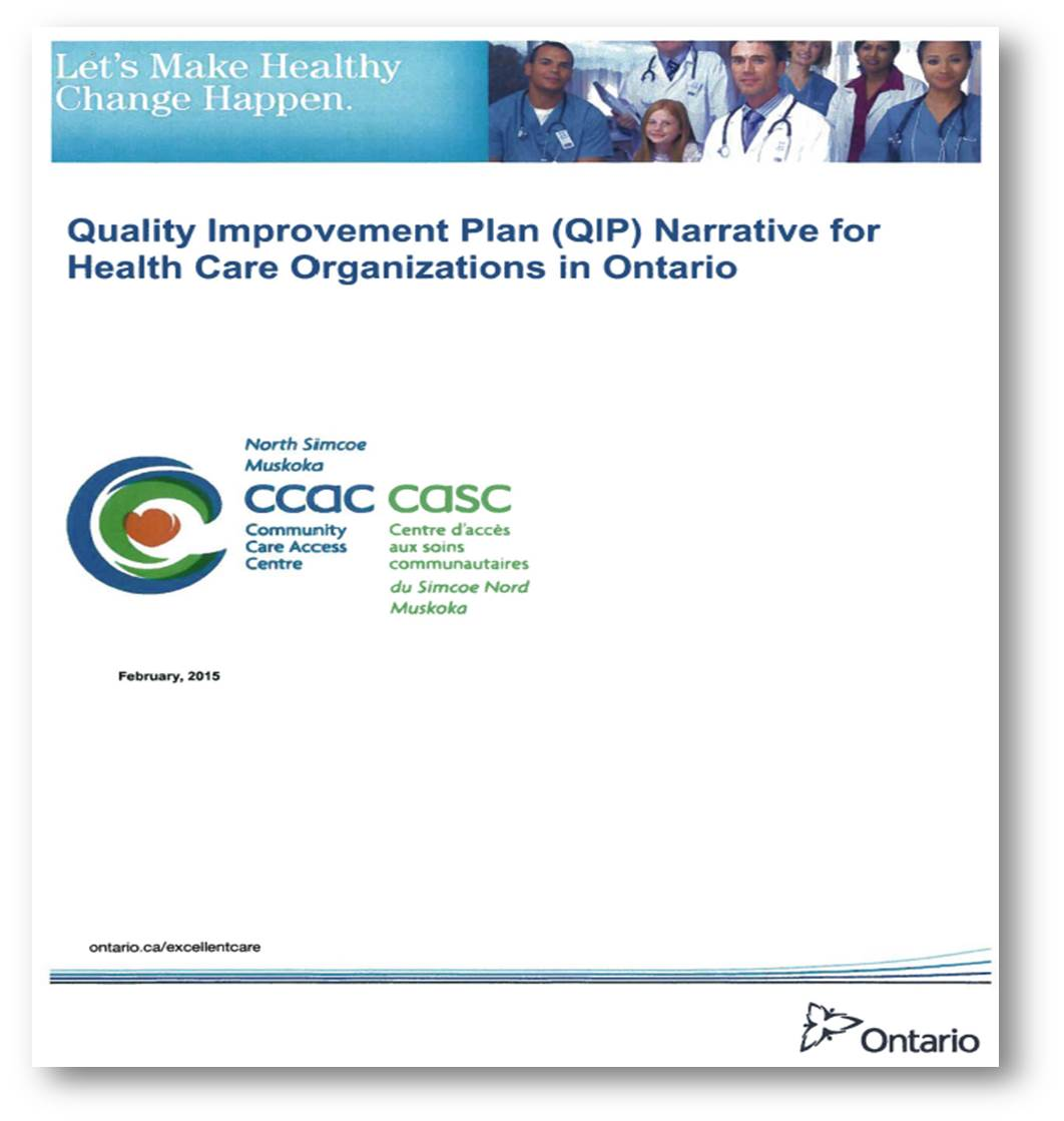 Quality Improvement Plan Narrative