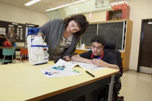 a nurse enables a student to attend school