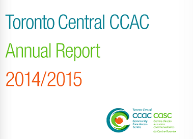 Toronto Central CCAC Annual Report 2014 2015.png