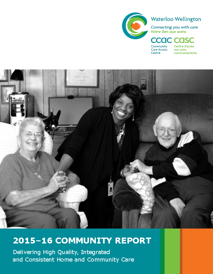 Front Cover of the 2015-2016 Community Report