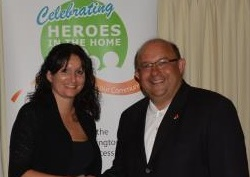 Hero Leanne Cote and Mayor Vrbanovic